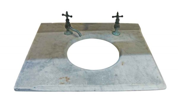 Bathroom - 19th Century Marble Sink Top with Original Hardware