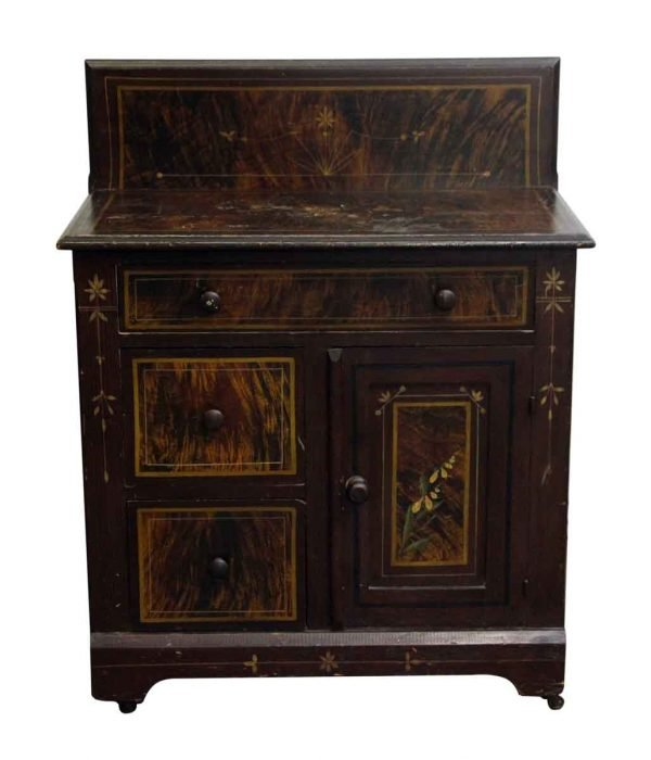 Bathroom - Late 1800s Wooden Wash Stand