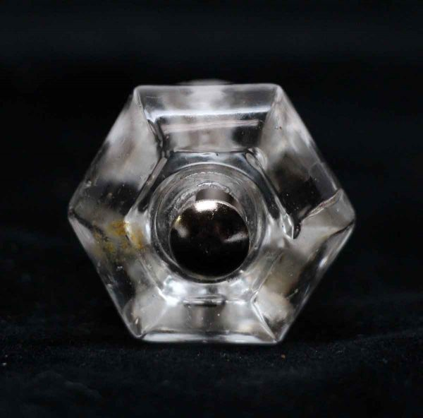 Cabinet & Furniture Knobs - 1.125 in. Vintage Hexagon Glass Cabinet Knob