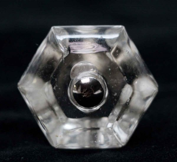 Cabinet & Furniture Knobs - 1.5 in. Vintage Hexagon Glass Cabinet Knob