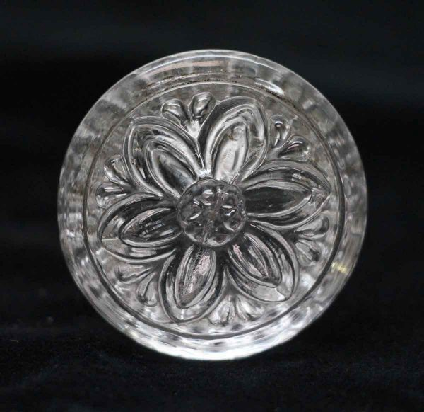 Cabinet & Furniture Knobs - 1.625 in. Vintage Round Floral Sandwich Glass Cabinet Knob