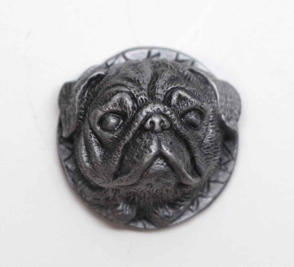 Cabinet & Furniture Knobs - Unique Pewter Over Brass Pug Dog Head Drawer Knob