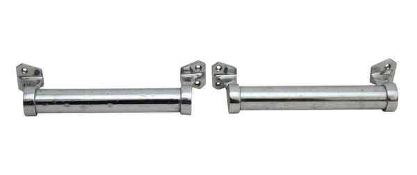 Cabinet & Furniture Pulls - Pair of Cylinder Nickel Drawer Pulls