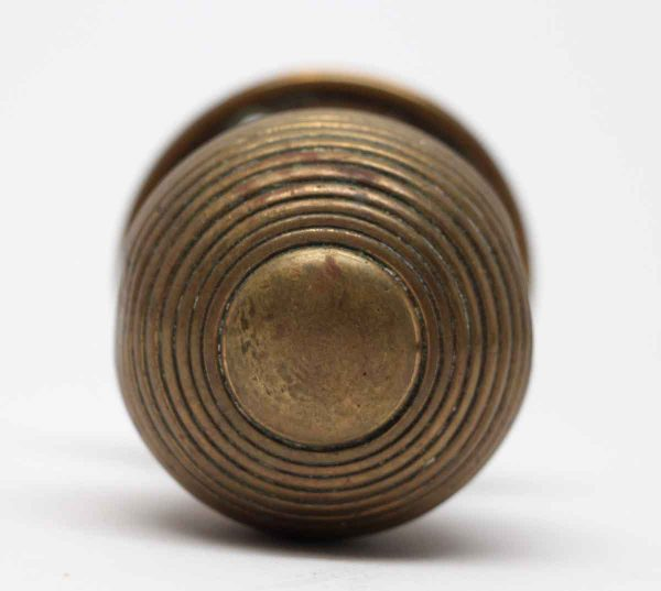 Door Knobs - Brass Antique Concentric Door Knob with Attached Rosette