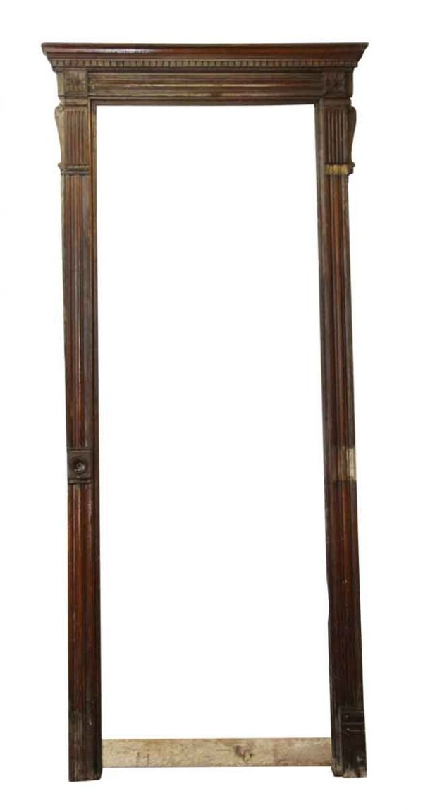 Door Transoms - Tall Antique Chestnut Door Frame