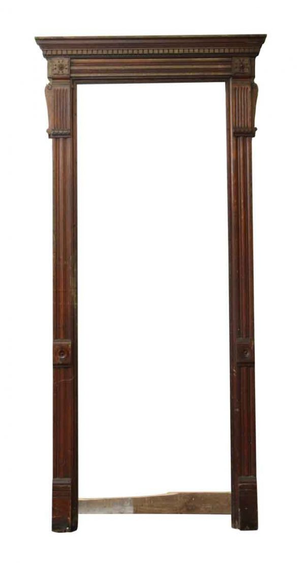 Door Transoms - Tall Turn of the Century Chestnut Door Frame