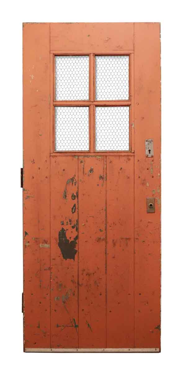 Entry Doors - Arts and Crafts Painted Door with Raised Riveted Braces