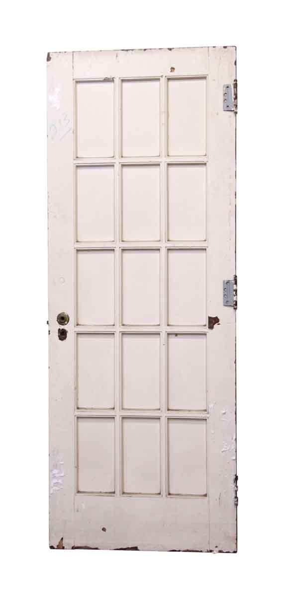 French Doors - Painted White 15 Lite Door