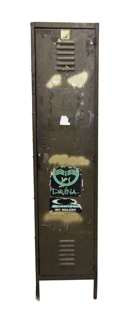 Industrial - Metal Locker with Stickers & Paint