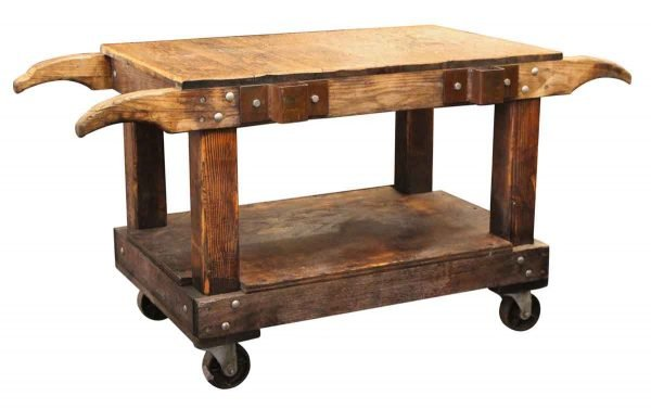 Industrial - Wooden Industrial Cart Table or Counter