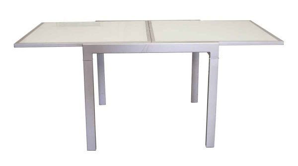 Kitchen & Dining - Aluminum Fold Up Glass Top Table