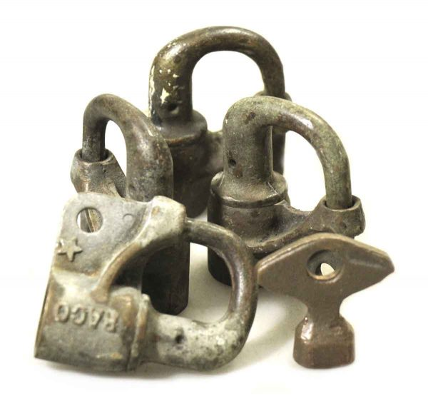 Locks - Antique Padlock Lock Set