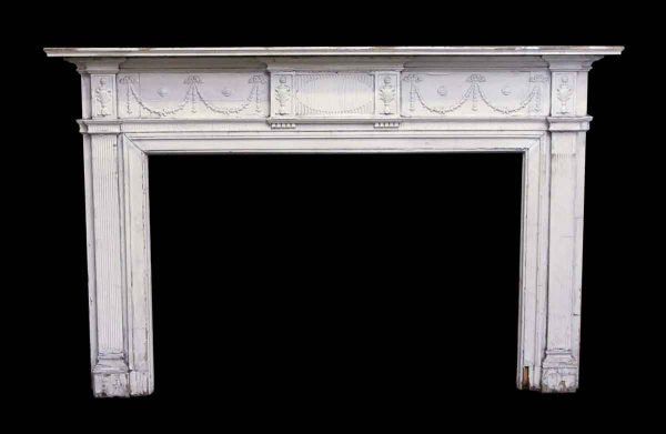 Mantels - Federal Mantel with Garland Design