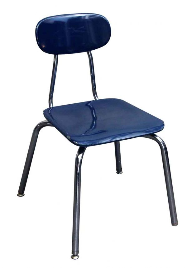 Seating - Bakelite Royal Blue Chair with Chrome Legs