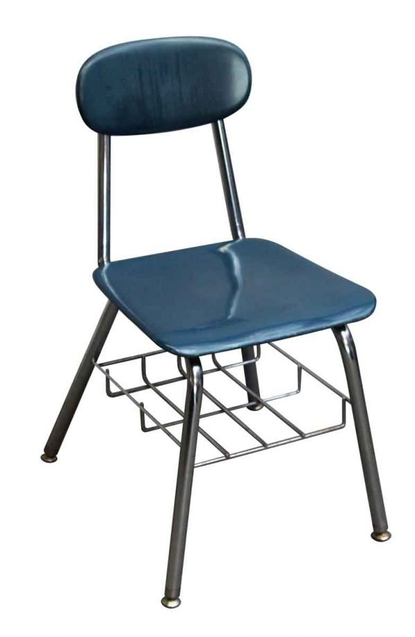 Seating - Blue School Chair with Bottom Storage