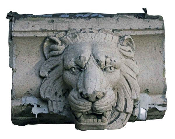 Stone & Terra Cotta - Salvaged Terra Cotta Lion Head