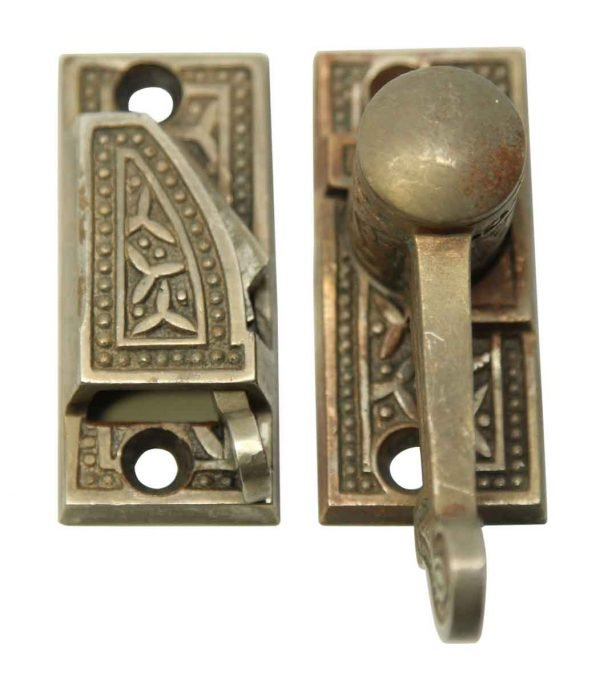 Window Hardware - Ornate Victorian Aesthetic Latch with Springs