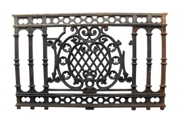 Balconies & Window Guards - Antique Black Cast Iron Balcony