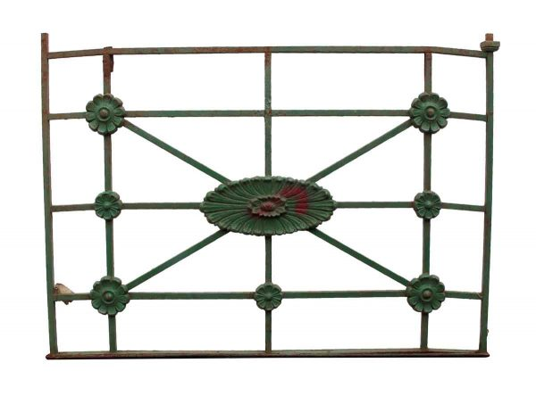 Balconies & Window Guards - Antique Green Cast Iron Balcony
