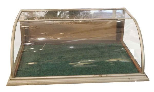 Commercial Furniture - Tabletop Nickel Clad Curved Display Case