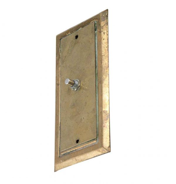 Elevator Hardware - Early 1900s Cast Brass Push Button Plate