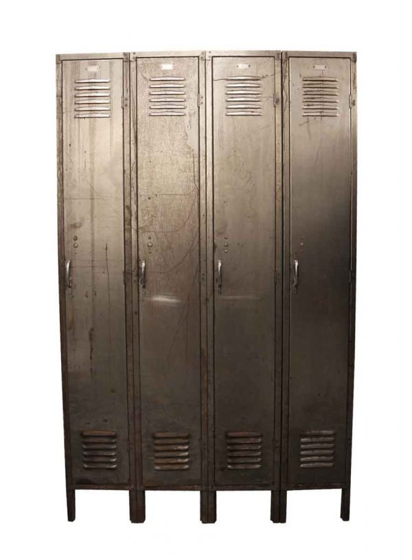 Industrial - Stripped Steel 4 Unit Locker