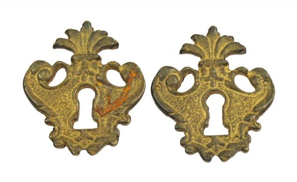 Keyhole Covers - Pair of French Bronze Keyhole Covers