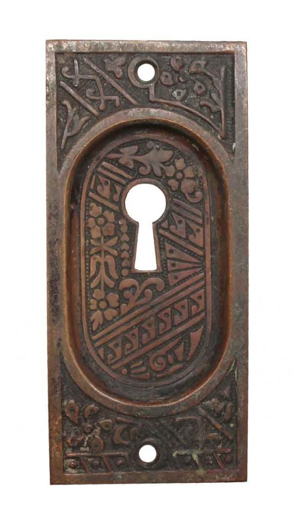 Pocket Door Hardware - Bronze Pocket Door Keyhole Pull