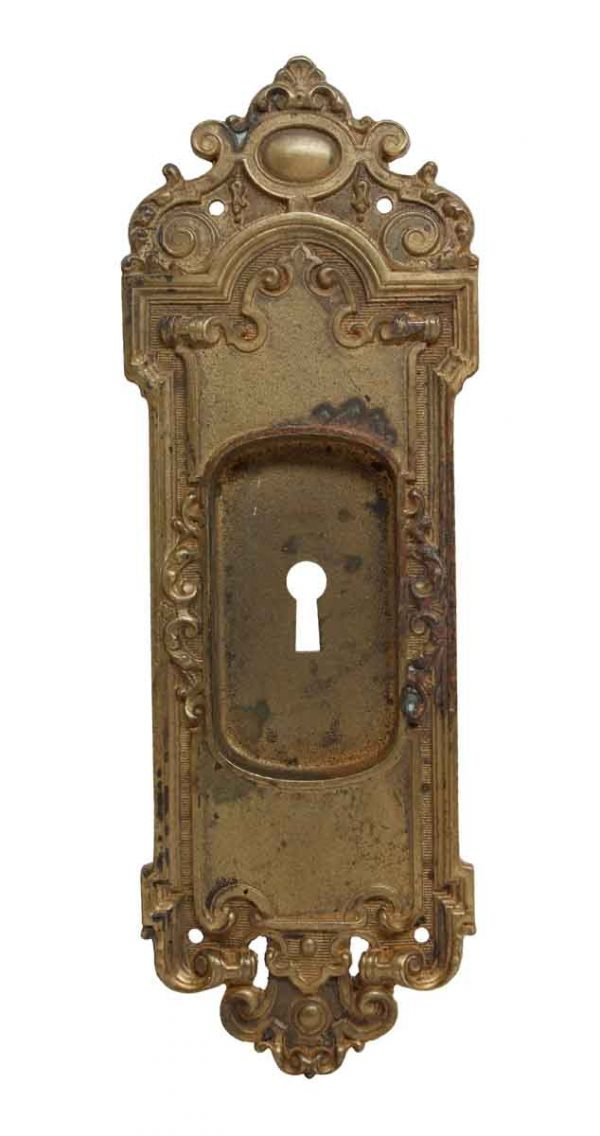 Pocket Door Hardware - Sargent French Cast Brass Pocket Door Plate