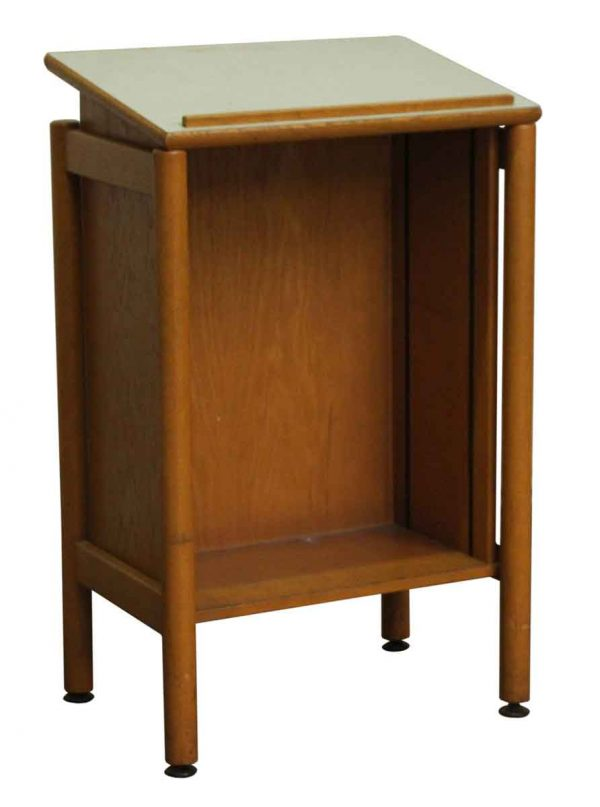 Commercial Furniture - Maple Standing Map Drafting Desk
