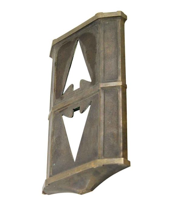 Elevator Hardware - Early 20th Century Bronze Elevator Plate