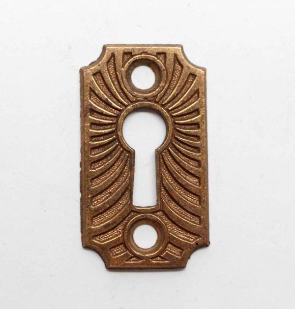 Keyhole Covers - Antique Bronze Curved Line Keyhole Cover