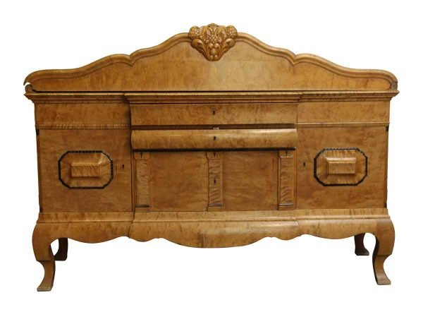 Kitchen & Dining - Large Burley Maple Sideboard with Carved Detail
