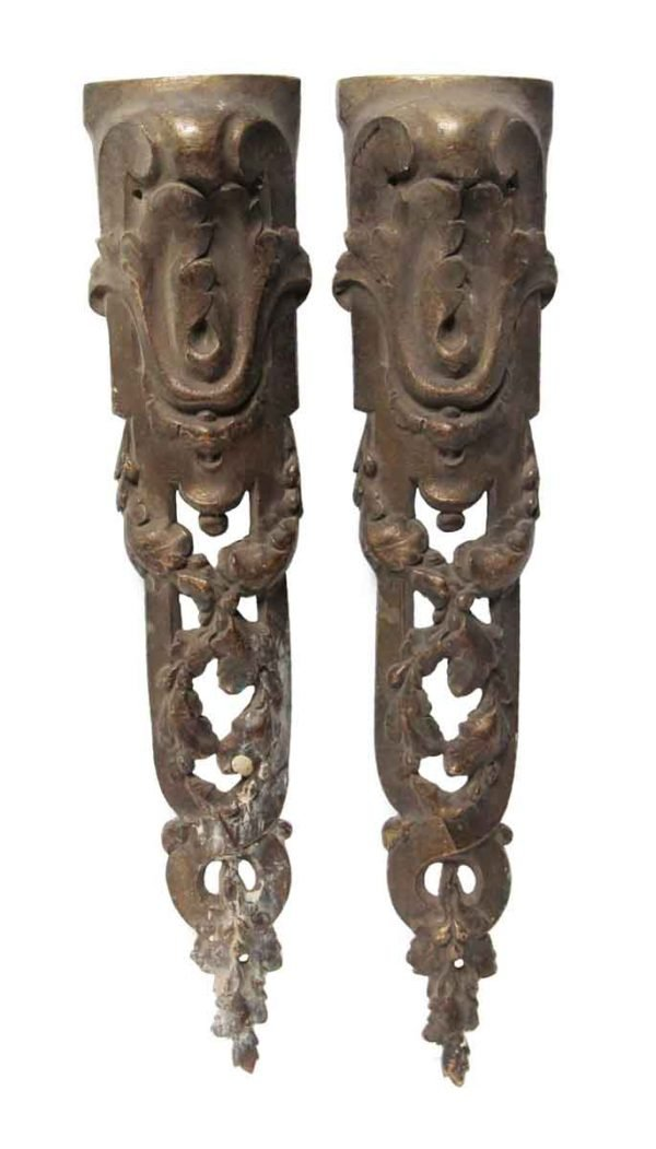 Other Cabinet Hardware - Pair of Antique Bronze Appliques