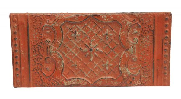 Tin Panels - Coral Decorative Tin Panel with Floral Center