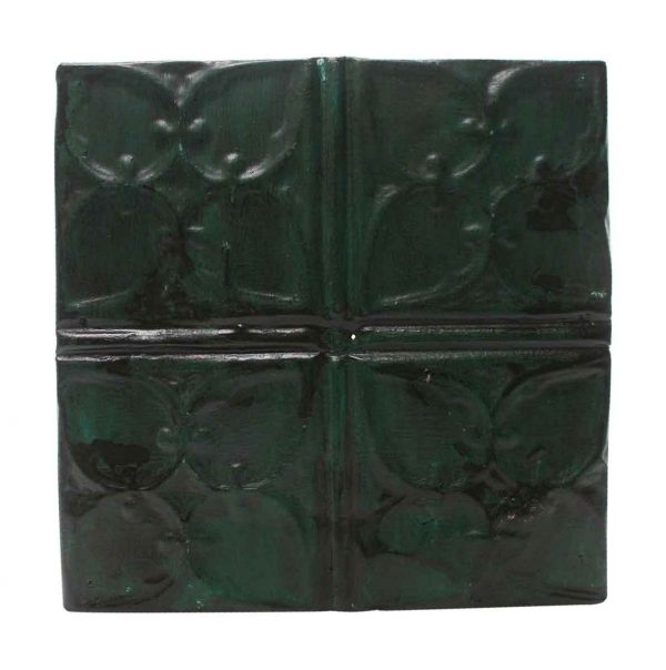 Tin Panels - Green Quadrant Antique Tin Panel