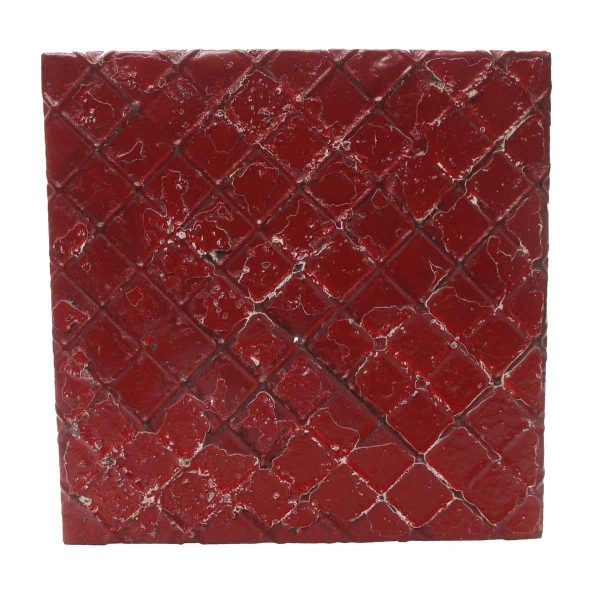 Tin Panels - Red Decorative Tin Panel