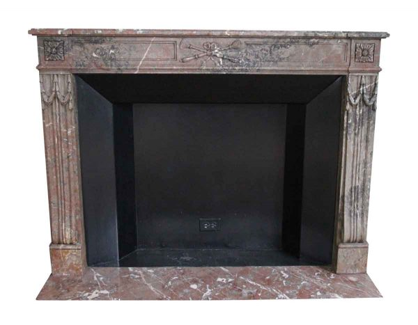 Waldorf Astoria - Waldorf Astoria Louis XVI Regency Brown Carved Marble Mantel