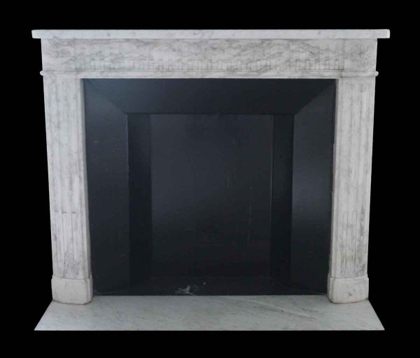 Waldorf Astoria - Waldorf Astoria White Carrara Marble Louis XVI Regency Mantel