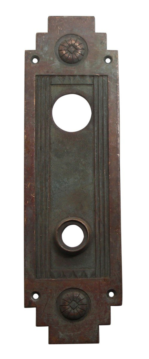 Back Plates - Sargent Cast Bronze Art Deco Door Back Plate
