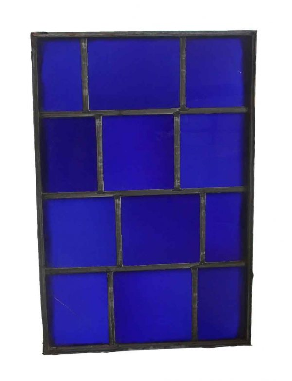 Exclusive Glass - Dark Blue JFK Leaded Glass Window