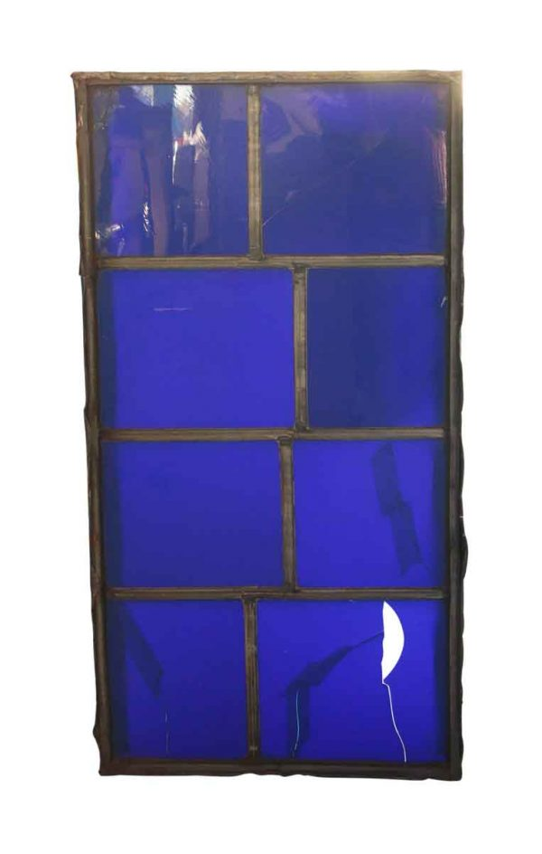 Exclusive Glass - Dark Blue Leaded JFK Glass Window