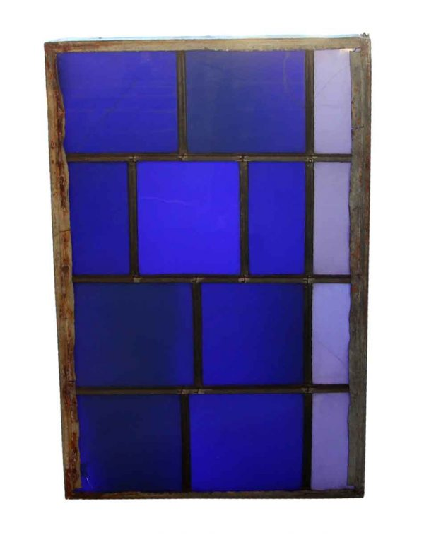 Exclusive Glass - JFK Blue Leaded Glass Window