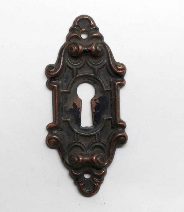 Keyhole Covers - Pressed Brass Antique Victorian Keyhole Cover