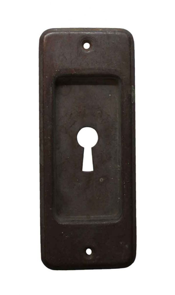 Keyhole Covers - Pressed Brass Keyhole Pocket Door Pull
