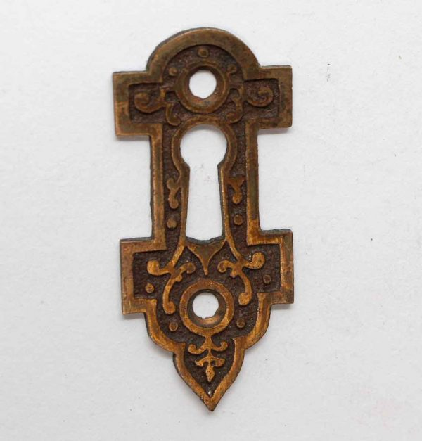 Keyhole Covers - Victorian Bronze Ornate Antique Keyhole Plate