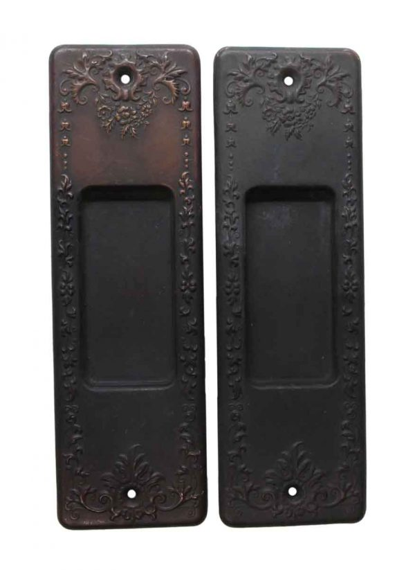 Pocket Door Hardware - Pair of Victorian Brass Pocket Door Plates