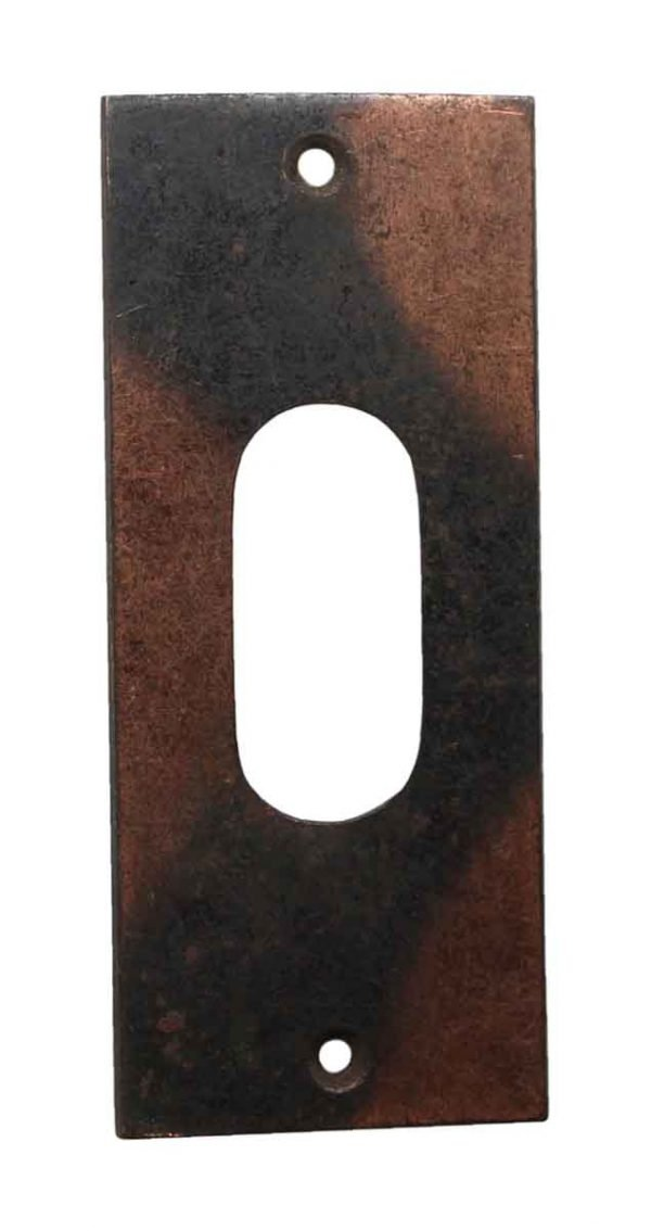Pocket Door Hardware - Steel Pocket Door Plate with Japan Finish