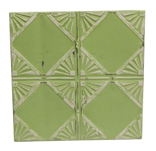 Tin Panels - Lime Green Antique Art Deco Tin Panel