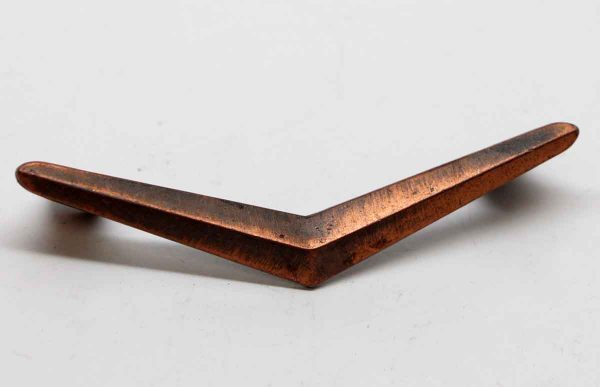 Cabinet & Furniture Pulls - Copper Plated Brass Deco Drawer Pull